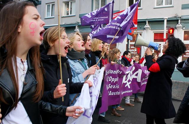 Betoging tegen geweld op vrouwen // Liesbeth