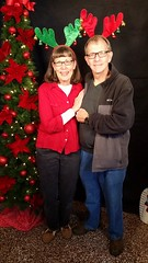 Lois and Deacon Craig Giles at Shepherd's Staff's Carroll County Festival of Trees in downtown Westminster at John Street Quarters, 28 John Street, at the Westminster Vol. Fire Department Sat. 25Nov2017