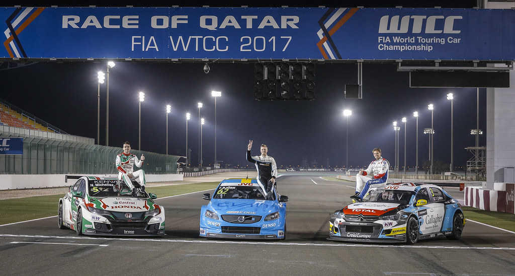 MICHELISZ Norbert, (hun), Honda Civic team Castrol Honda WTC, ambiance portrait BJORK Thed, (swe), Volvo S60 Polestar team Polestar Cyan Racing, ambiance portrait CHILTON Tom, (gbr), Citroen C Elysée team Sébastien Loeb Racing, ambiance portrait during the 2017 FIA WTCC World Touring Car Championship race at Losail  from November 29 to december 01, Qatar - Photo Francois Flamand / DPPI