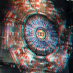 3D Hadron Collider art at Granary Sq (needs old school 3D specs but still v cool without. #london #art