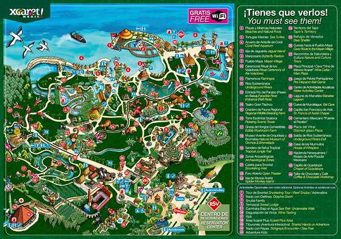 Mapa de Xcaret
