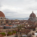 Views from the outdoor terrace of B Roof: Medici Chapel (left) and Cathedral of Santa Maria del Fiore (right)
