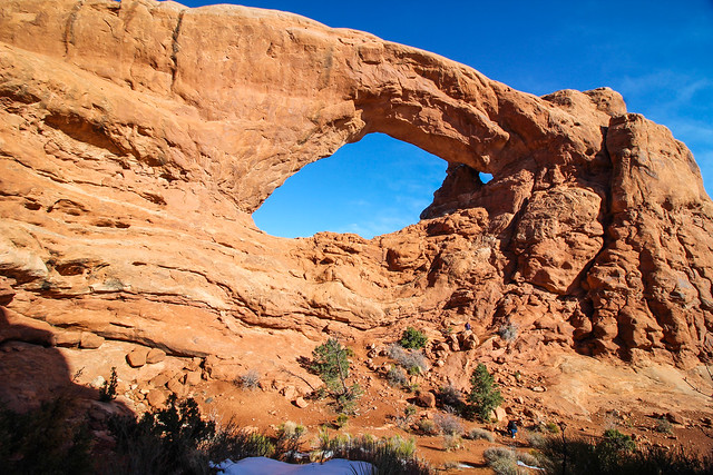 One of the Window Arches at Arches National Park
