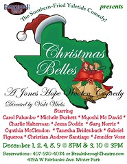 "Breakthrough Theatre presents the comedy, ""Christmas Belles"""