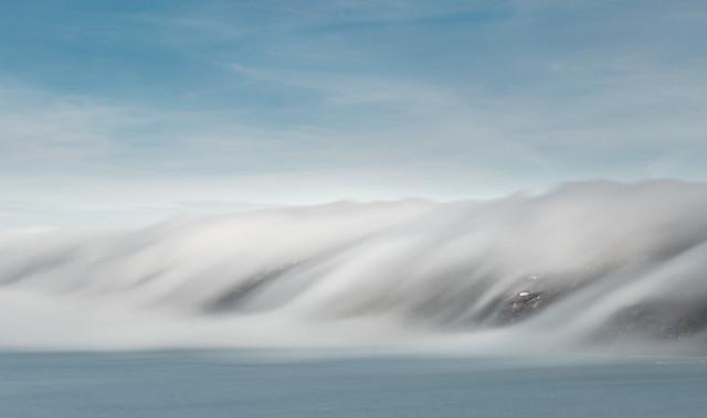 Cloud Inversion, Freathy Cliffs ( colour )