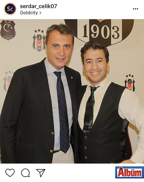 Gold City Hotel Basın Danışmanı Serdar Çelik, Beşiktaş JK Kulüp Başkanı Fikret Orman ile birlikte hatıra fotoğrafı çektirdi.