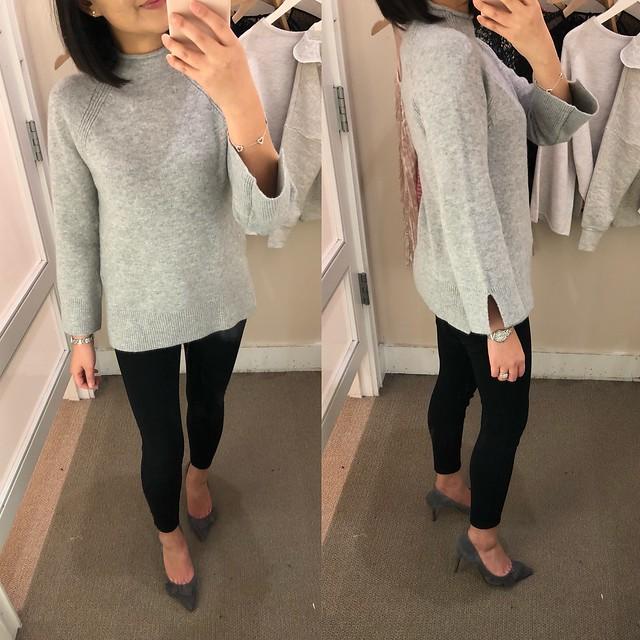 LOFT Slit Mockneck Sweater, size XXSP