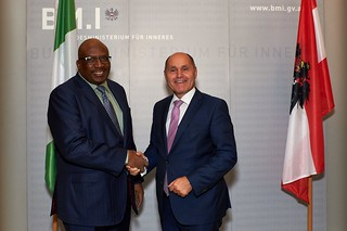 Arbeitsgespräch mit dem Innenminister von Nigeria
