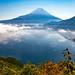 Fuji and Lake Motosu by shinichiro*