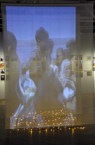 Bildspel i utställningen