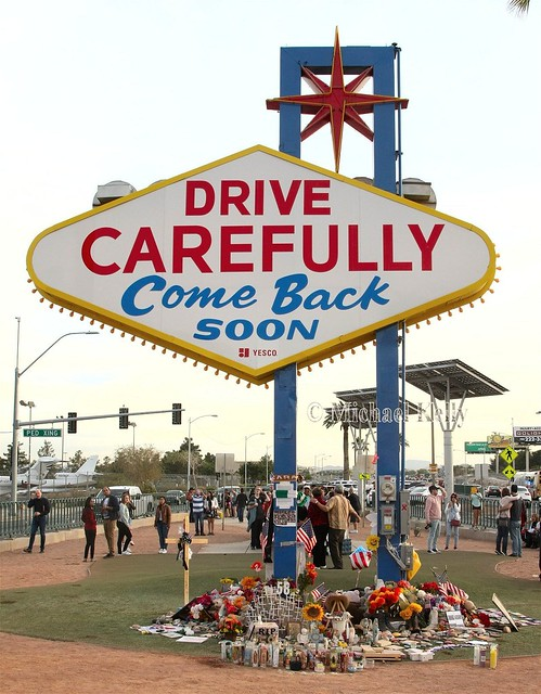 Las Vegas Sign  -- The other side of it