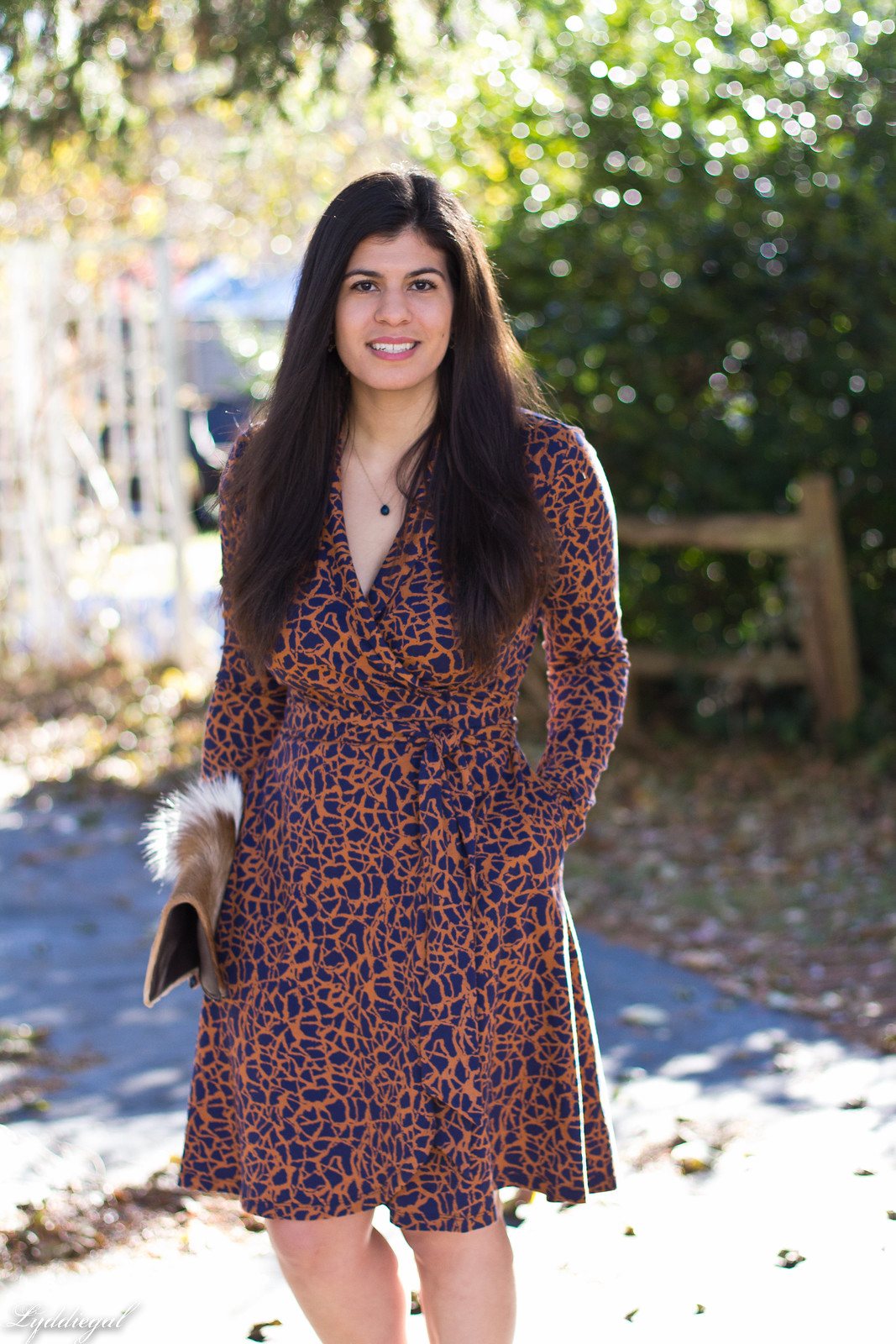 printed wrap dress, springbok clutch, thanksgiving outfit-13.jpg
