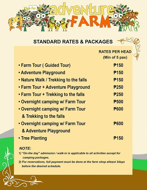 adventure farm timberland heights san mateo rizal rates and packages