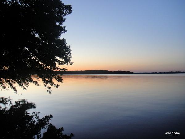 Summer sunrise over a lake