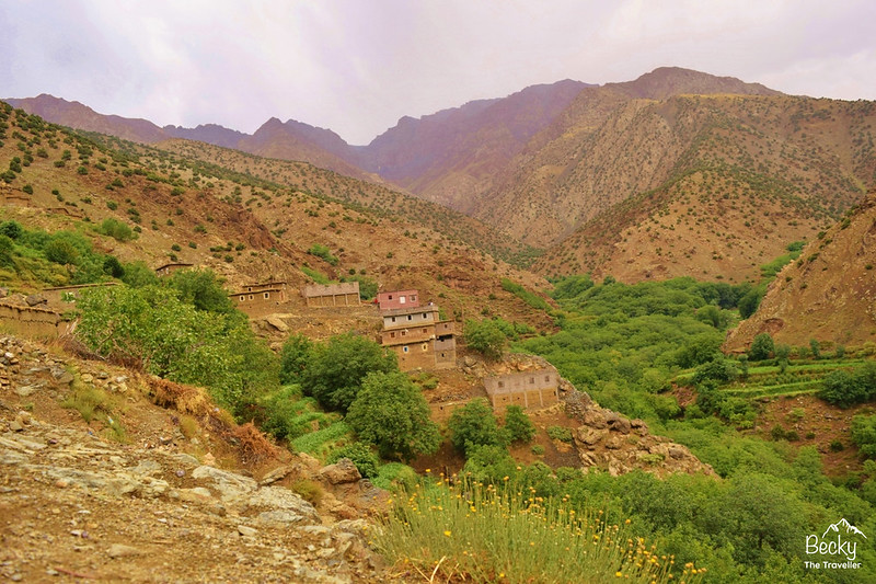 Trekking Atlas Mountains - Berber village on the trek
