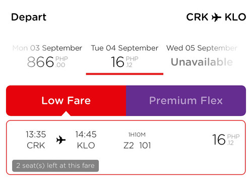 Clark to Kalibo Promo September 4, 2018