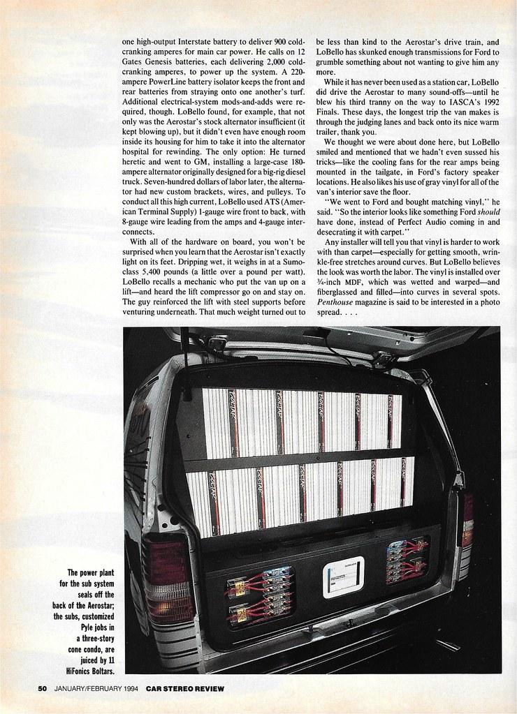 Iggy LoBello - 1988 Ford Aerostar - 1994 CSR