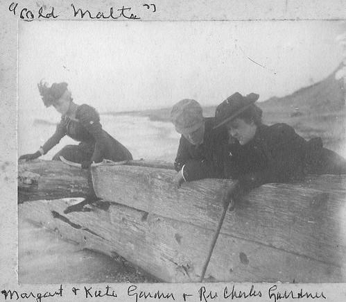 Gairdner children on Malta ruins