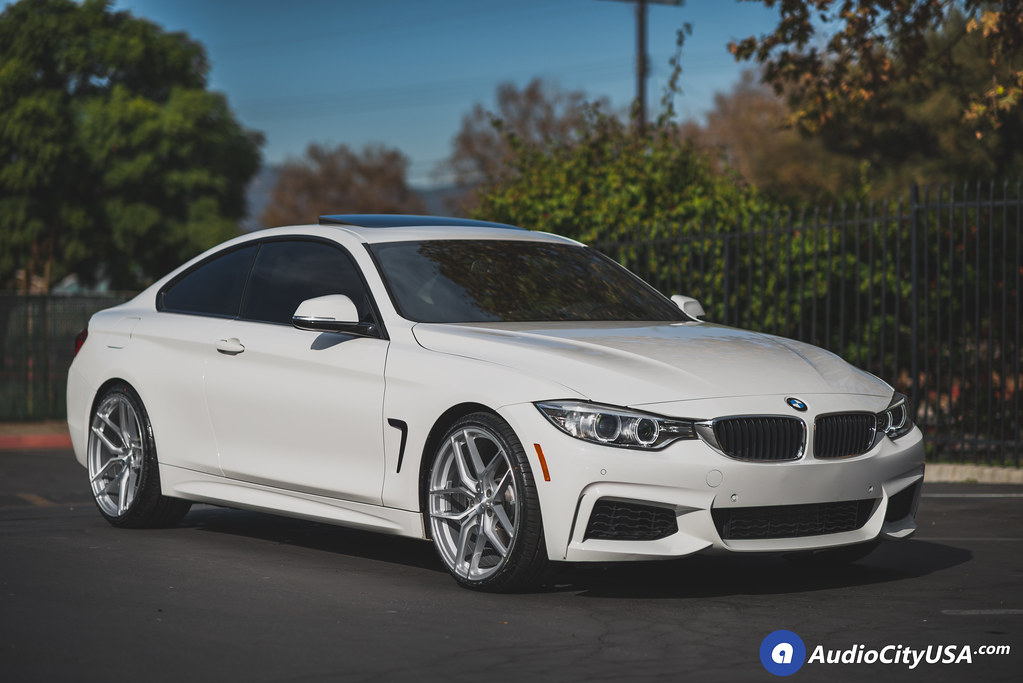 2014 Bmw 428 I 20 Stance Wheels Sf03 Brush Silver Concave