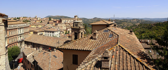 Rooftop view from Porta Sole in Perugia