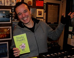 Sat, 01/01/2000 - 00:00 - It's Actor (& Musician at the Rat Pack Piano Bar) Gavin Paul with a copy of the Princess Pumpalot book. You can next see Gavin on stage 21st-23rd December in 'Jekyll & Hyde: A Specimen' at the Scottish Storytelling Centre #Edinburgh. #Fart2017