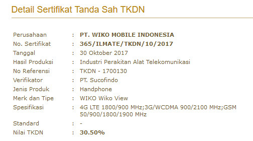 Wiko-View-TKDN