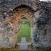 The Lesnes Abbey surviving arch