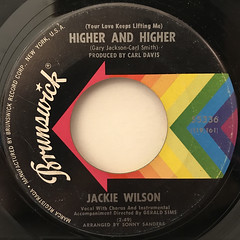 JACKIE WILSON:(YOUR LOVE KEEPS LIFTING ME)HIGHER AND HIGHER(LABEL SIDE-A)