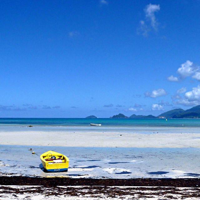 Yellow Boat - Seychelles