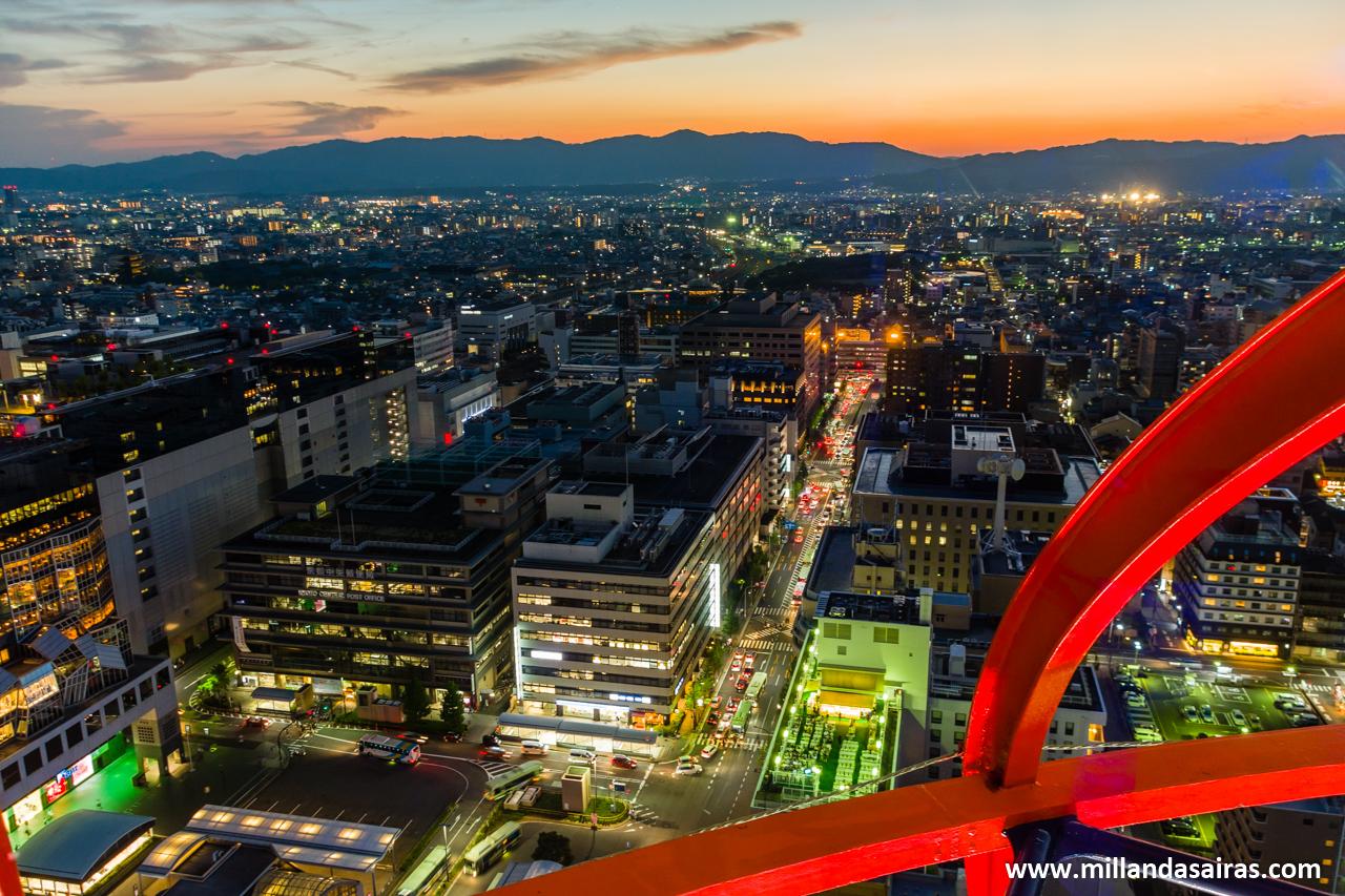 Kyoto desde la Kyoto Tower