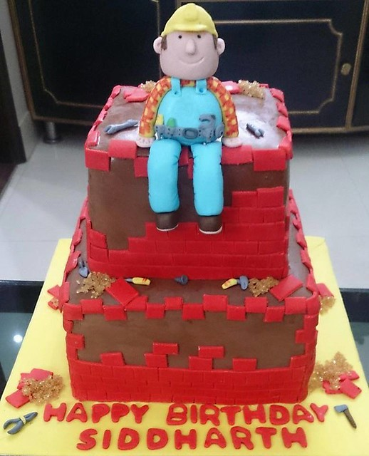 Vegan Bob The Builder Cake from Eggless Cakes by Payal Jain