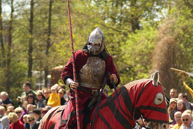 騎士騎馬表演