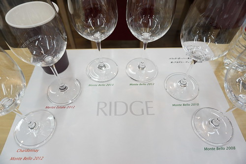 6種類のワインを試飲