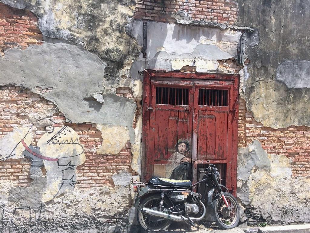 Famous motorcycle street art