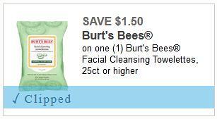 photograph regarding Burt's Bees Coupons Printable named $1.50/1 Burts Bees Facial Wipes coupon: $3.00 at Meijer