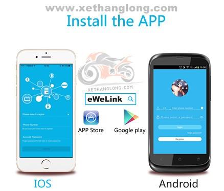 Ứng dụng eWelink cho điện thoại IOS và Andriod