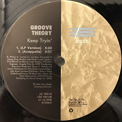 GROOVE THEORY:KEEP TRYIN'(LABEL SIDE-B)