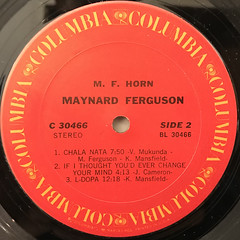 MAYNARD FERGUSON:M.F. HORN(LABEL SIDE-B)