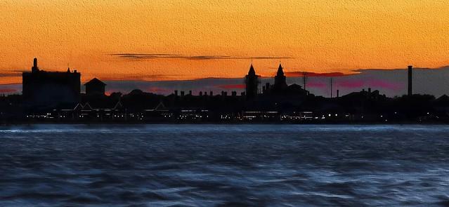 Saint Augustine Skyline at Sunset Textures