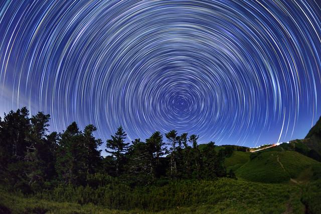 Star trails, Mountain Hehuan 合歡山星軌