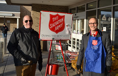 Reps. Dave Labriola and Arthur O'Neill rang the bell to raise money for the Salvation Army's annual Red Kettle Campaign outside the Southbury Stop and Shop.
