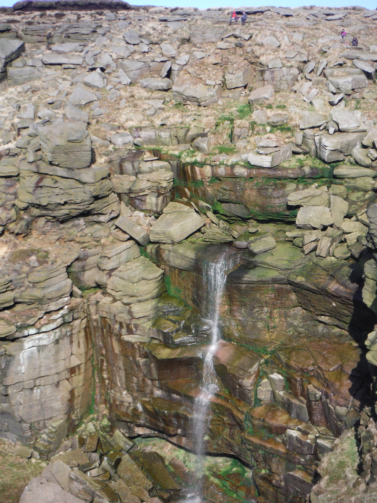 Kinder Downfall SWC Walk 304 - Kinder Scout Circuit (from Edale)