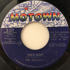 THE JACKSON 5:NEVER CAN SAY GOODBYE(LABEL SIDE-B)
