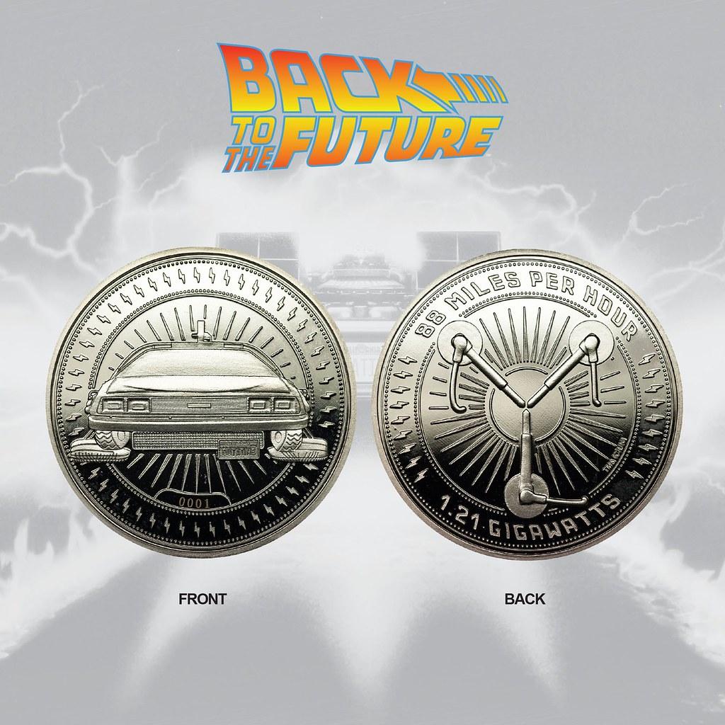 「路?我們要去的地方不需要道路。」Merchoid《回到未來》銀製紀念幣 Back To The Future Silver Edition Collectible Coin