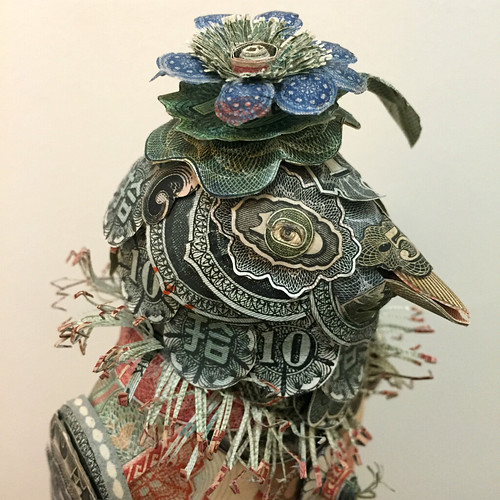 Paper Money Bird Sculpture