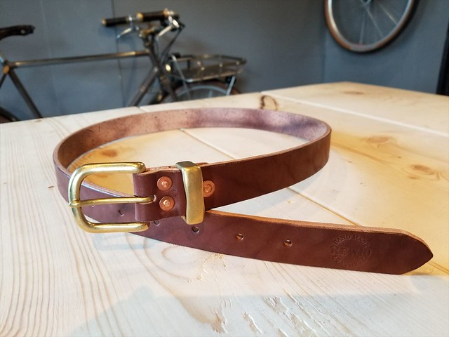 REW10 RIVETED BELT RUSSET BROWN