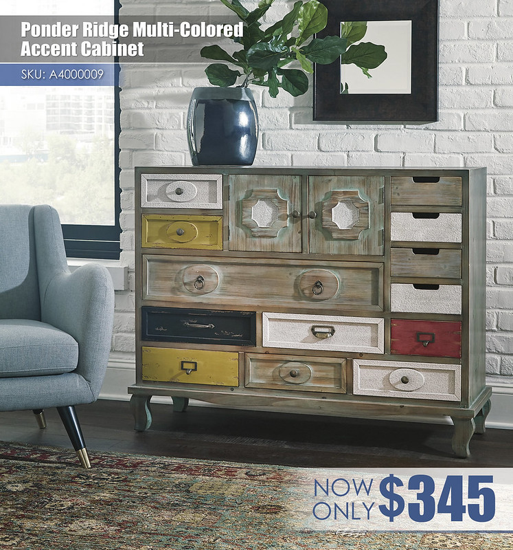 A4000009 - Ponder Ridge Multi-Colored Accent Cabinet $345