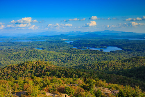 stregis saranaclake adirondacks mountain hills valley hike hiking trail lake trees vista forest canon6d canon 6d water firetower landscape sky clouds