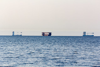 Superior mirage of ships in the Gulf of Riga
