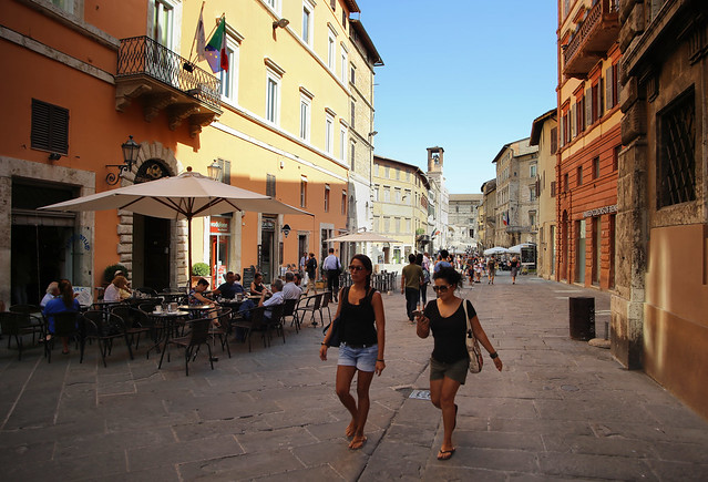 Corso Vannucci is the mainstreet of Perugia